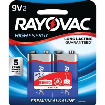 Rayovac A1604-2J 9-Volt Alkaline Batteries  2 pk