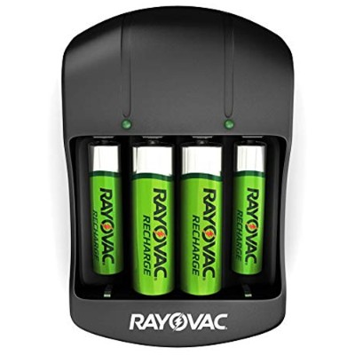 Rayovac PS134-4B GEN Value Charger with 2 AAA & 2 AA Ready-to-Use Rechargeable Batteries 40436989