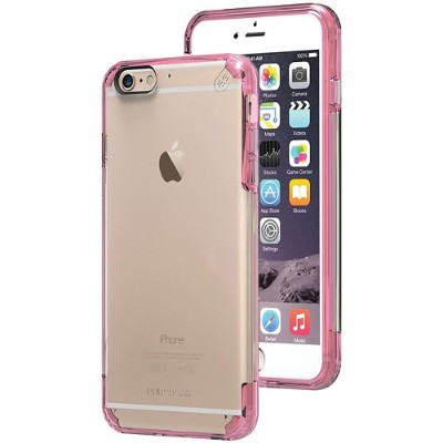 PureGear 11200VRP iPhone 6 Plus/6s Plus Slim Shell PRO Case (Clear/Pink)