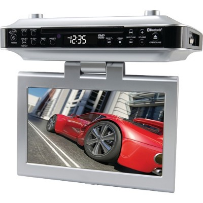 Digital Products International iKTD1016S Under-Cabinet Bluetooth DVD/CD Player with 10 LCD Display