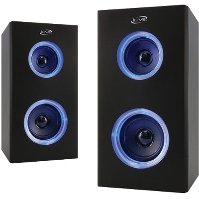 Digital Products International ISB2006B Dual Bluetooth Speakers with LEDs