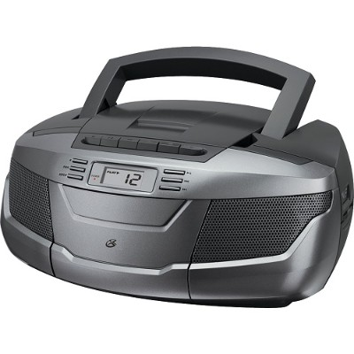 GPX BCA206S CD Boom Box with AM/FM Radio and Cassette Player