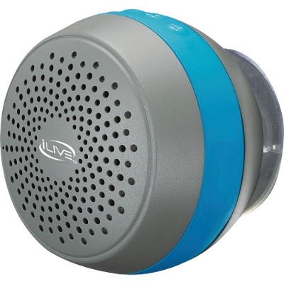 Digital Products International ISBW105BU Water-Resistant Bluetooth Shower Speaker