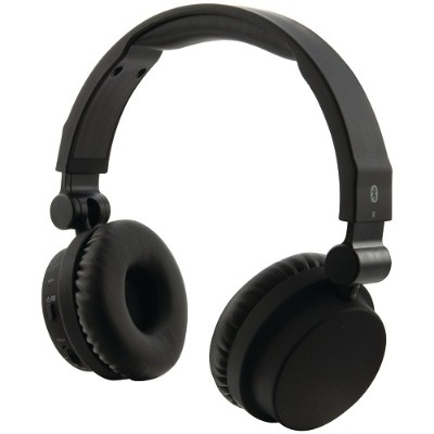 Digital Products International IAHB45B Bluetooth Headphones with Microphone (Matte Black)
