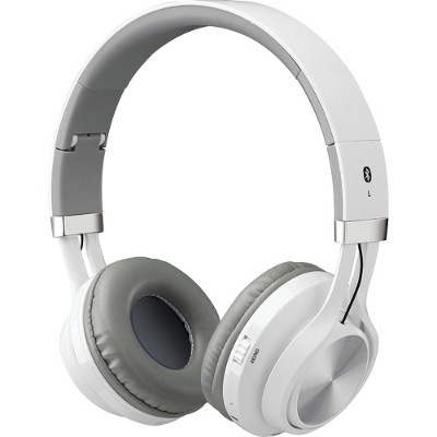 Digital Products International IAHB56W Bluetooth Headphones with Microphone (White)