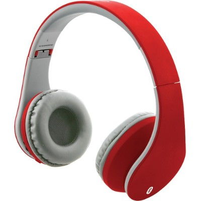 Digital Products International IAHB64MR Bluetooth Headphones with Auxiliary Input (Matte Red)