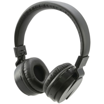 Digital Products International iAHB6B Bluetooth Wireless Headphones with Microphone (Black)