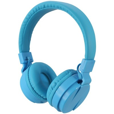 Digital Products International iAHB6BU Bluetooth Wireless Headphones with Microphone (Blue)