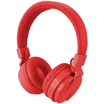Digital Products International iAHB6R Bluetooth Wireless Headphones with Microphone (Red)