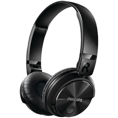 Philips SHB3060BK/27 Over-Ear Bluetooth Headphones with Microphone
