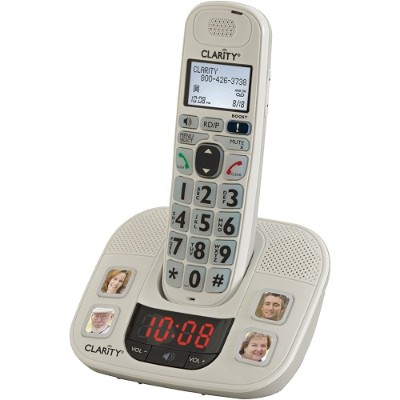 Clarity Visual 59465.001 DECT 6.0 Extra-Loud Big-Button Speakerphone with Talking Caller ID & Extra Handset