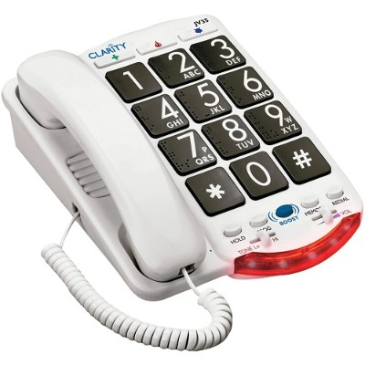Clarity Visual 76560.001 Amplified Telephone with Talk Back Numbers (Black Buttons)