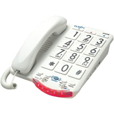 Clarity Visual 76557.101 Amplified Telephone with Talk Back Numbers (White Buttons)