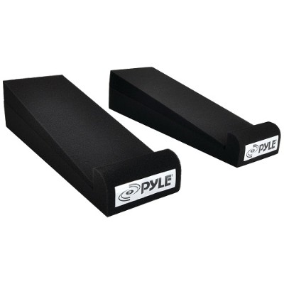 Pyle PSI01 4 x 12 Acoustic Sound-Isolation Dampening Recoil Stabilizer Speaker Risers  2 pk