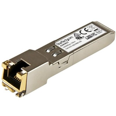 StarTech.com JD089BST Gigabit RJ45 Copper SFP Transceiver Module - HP JD089B Compatible - 100m