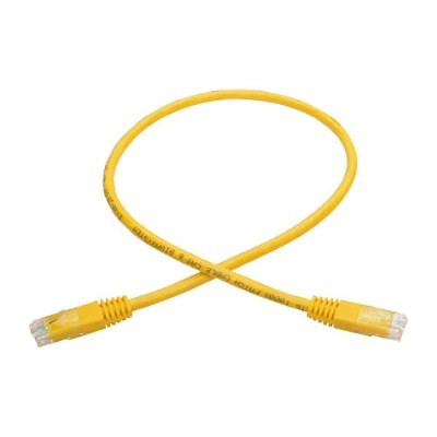 TrippLite N200-002-YW Cat6 Gigabit Molded Patch Cable (RJ45 M/M)  Yellow  2 ft.