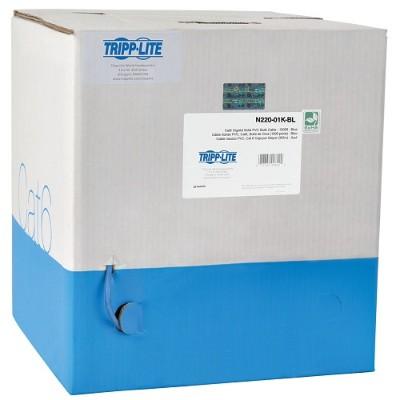 TrippLite N220-01K-BL 1000ft Cat6 Gigabit Bulk Cable Stranded CMR PVC 24AWG Blue 1000'
