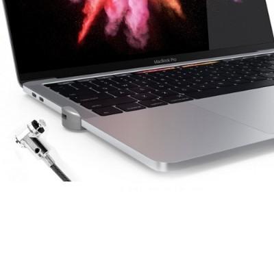 Compulocks Brands MBPRLDGTB01KL Ledge Security Lock Slot Adapter with Keyed Lock for Macbook Pro Touchbar