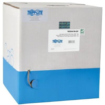 TrippLite N220-01K-GY 1000ft Cat6 Gigabit Bulk Cable Stranded CMR PVC 24AWG Gray 1000'