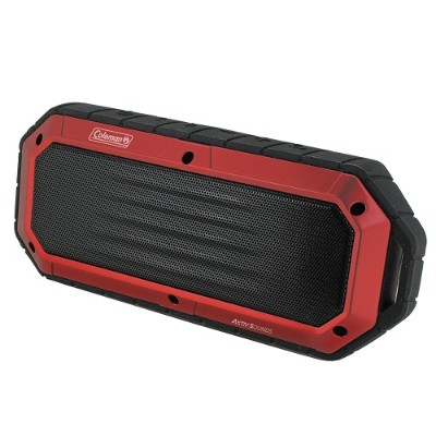 Coleman CBT16-R CBT16 Bluetooth and Waterproof Slim-Line Speaker - Red