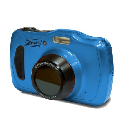 Coleman C30WPZ-BL C30WPZ Xtreme4 20-Megapixel  1080p HD  4x Optical Zoom Underwater Digital & Video Camera  Waterproof up to 33ft. - Blue