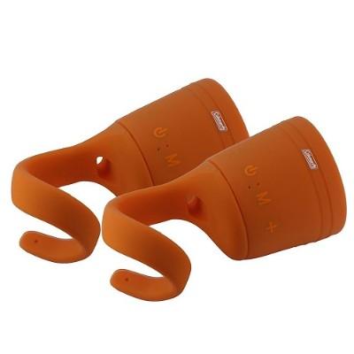 Coleman CBT10TWS-O-2P CBT10TWS Bluetooth and Waterproof True Wireless Stereo (TWS) Link Speaker - Orange  2pk