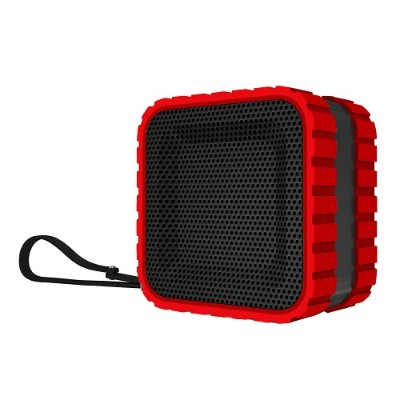 Coleman CBT14-R CBT14 Bluetooth and Waterproof Cube Speaker - Red