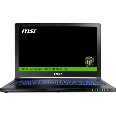 MSI WS63280 WS63 7RK-280US 15.6 Full HD Notebook PC - Intel Core i7-7700HQ Quad-Core 2.80GHz  16GB (8Gx2) DDR4  256GB SSD + 2TB HDD  NVIDIA Quadro P3000 6GB GDD