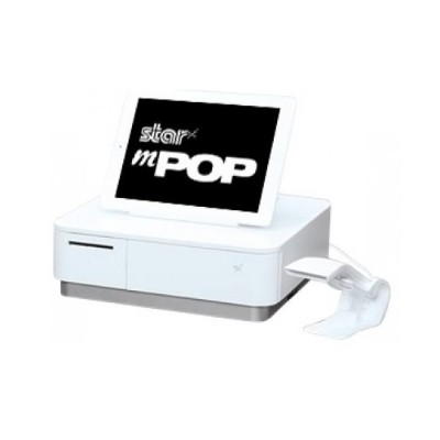 Star Micronics 39650111 mPOP MPOP10-B1  Scanner  2 Inch Printer  Cash Drawer  Tablet Stand  Internal PS  White