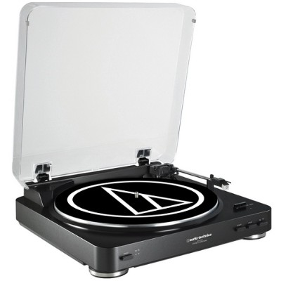 Audio - Technica AT-LP60BK Fully Automatic Belt-Drive Stereo Turntable - Black