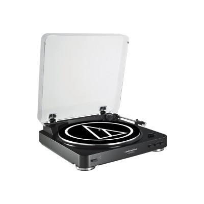 Audio - Technica AT-LP60BK-USB Fully Automatic Belt-Drive Stereo Turntable (USB & Analog)