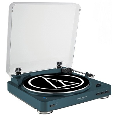 Audio - Technica AT-LP60NV-BT Fully Automatic Wireless Belt-Drive Stereo Turntable - Navy