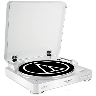Audio - Technica AT-LP60WH-BT Fully Automatic Wireless Belt-Drive Stereo Turntable - White