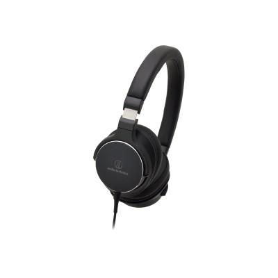 Audio - Technica ATH-SR5BK ATH-SR5BK - Headphones with mic - on-ear - 3.5 mm jack - black