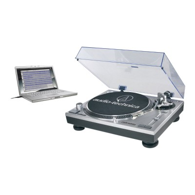 Audio - Technica AT-LP120BK-USB Direct-Drive Professional Turntable (USB & Analog) - Black