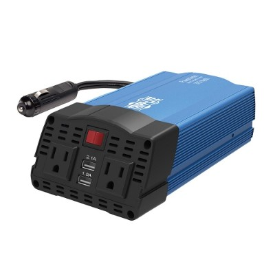 TrippLite PV375USB 375W Car Power Inverter 2 Outlets 2-Port USB Charging AC to DC