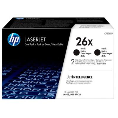 HP Inc. CF226XD 26X - 2-pack - High Yield - black - original - LaserJet - toner cartridge (CF226XD) - for LaserJet Pro M402  MFP M426