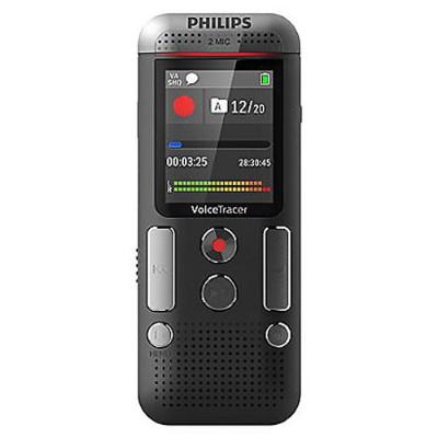 Philips DVT2510/00 DVT2510 Digital Voice Tracer - Digital Voice Recorder 8GB Internal Memory 88 Days of Recording 2x AAA Batteries