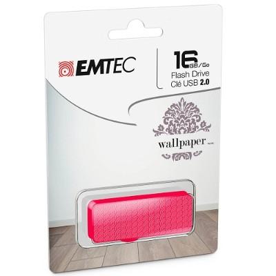 Emtec ECMMD16GM700WPM1 16GB USB 2.0 Flash Drive with Wallpaper Patterns