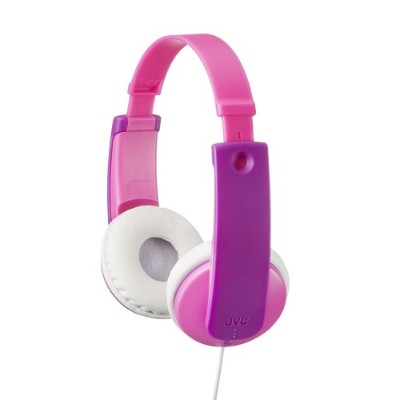 JVC HAKD7P Child-friendly in-ear stereo headphones - Pink/Violet
