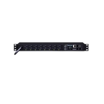 Cyberpower PDU81002 20A 120V Metered-by-Outlet Switched PDU 8 NEMA Outlets 12 Feet Cord