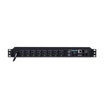 Cyberpower PDU81001 15A 120V Metered-by-Outlet Switched PDU NEMA Outlets 12 Feet Cord