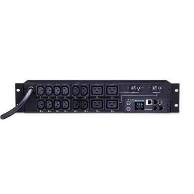 Cyberpower PDU81008 30A 208V Metered-by-Outlet Switched PDU 16 C13-C19 Outlets 12 Feet cord