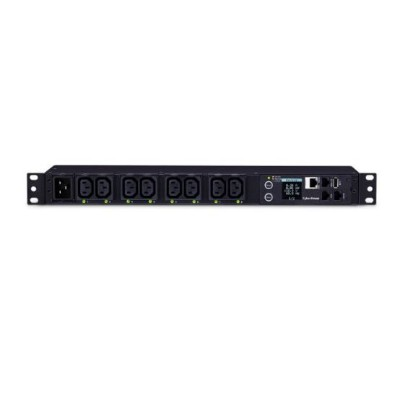 Cyberpower PDU81005 20A 100-240V Metered-by-Outlet Switched PDU 8 C13 Outlets 10 Feet Cord