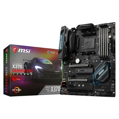 MSI X370 GAMING PRO X370 Gaming Pro Carbon - AMD Ryzen X370 - DDR4 - VR Ready - HDMI - USB 3.0 - ATX Gaming Motherboard