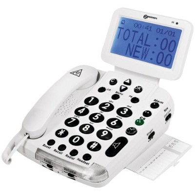 Geemarc BDP400 Big-Display 40dB Amplified Telephone with Talking Caller ID