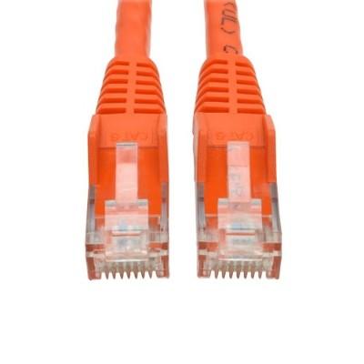 TrippLite N201-001-OR 1ft Cat6 RJ45 M/M Gigabit Snagless Molded UTP Patch Cable - Orange