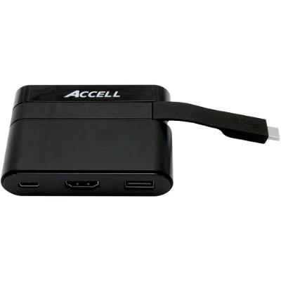 Accell U206B-001B USB-C Mini Dock - HDMI 2.0  USB-A 2.0  and USB-C Charging Port