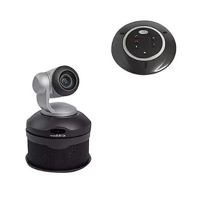 Vaddio 999-9995-300 ConferenceSHOT AV PTZ Camera with Conferencing Speaker and Table Mic - Black