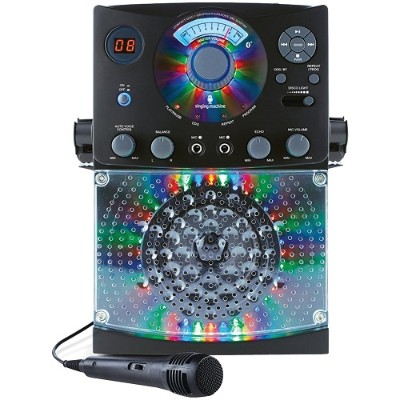 The Singing Machine SML385BTBK Bluetooth CD+G Karaoke System (Black)